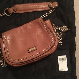 Guess Leather Crossbody in Camel